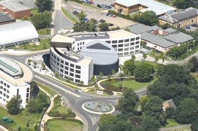 Aerial view of the Business School Building