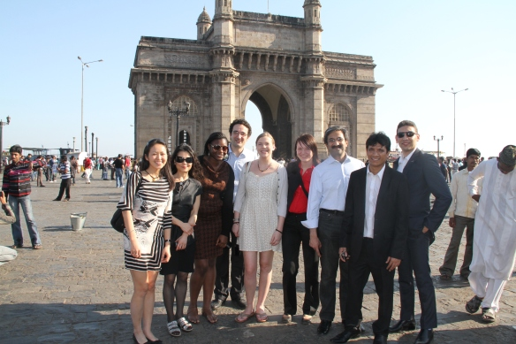 MBA Students at the Gateway of India