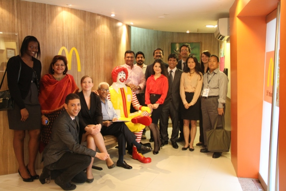 MBA Students in the McDonals HQ in India