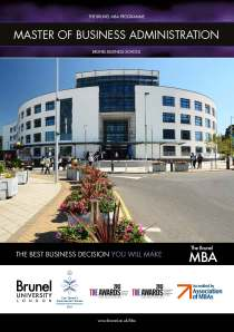 Brunel MBA Brochure 2014