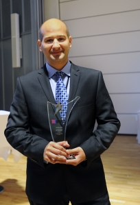 Prof Irani with THE Award