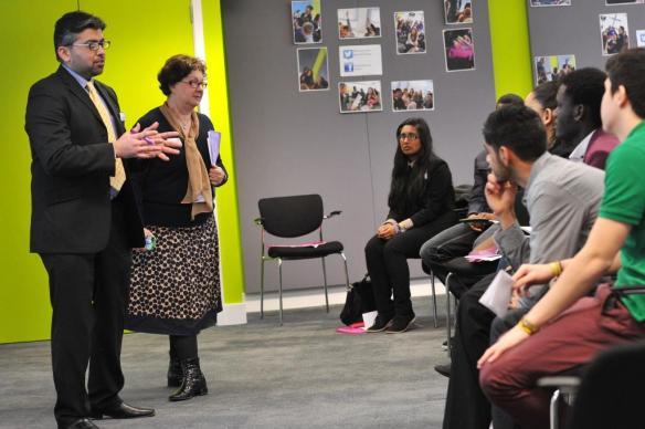 Geraldine, alongside her colleague Dr Kamal, helps students get a taste of Marketing in a Case Studies session