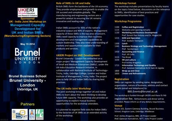 Full details of the workshop