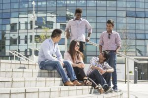 international students on campus
